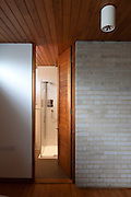 shower and bathroom in 1960s house