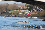 Chiswick. London. Saturday. 23.01.2016. General views of Quintin Boat Club, Mortlake Anglian and Alpha Boat  Club and foreshore. Quintin Head. River Thames.   [Mandatory Credit: Peter Spurrier/Intersport-images.com