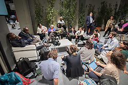 2 December 2019, Madrid, Spain: North American group of the Climate Action Network (CAN) meeting during day one of COP25 in Madrid.