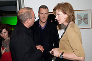 LORCAN O'NEILL; JULIA PEYTON-JONES, Mark Leckey at the Serpentine Gallery. 18 May 2011. <br /> <br />  , -DO NOT ARCHIVE-© Copyright Photograph by Dafydd Jones. 248 Clapham Rd. London SW9 0PZ. Tel 0207 820 0771. www.dafjones.com.