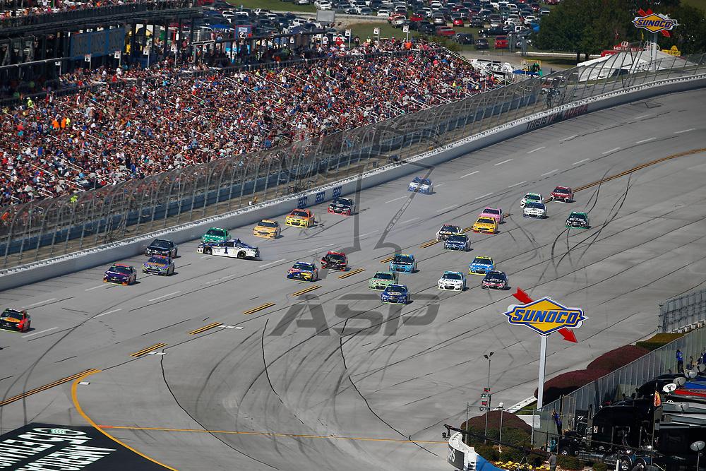 October 15, 2017 - Talladega, Alabama, USA: Jamie McMurray (1) gets turned into the wall during the Alabama 500 at Talladega Superspeedway in Talladega, Alabama.