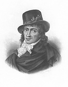 Camille Desmoulins (1760-94) French journalist and revolutionary. Writings in favour of clemency displeased Robespierre. Guillotined. Engraving