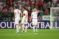 Football - European Championships 2012 - Czech Republic vs. Poland<br /> Poland are left looking dejected following defeat at the Municipal Stadium, Wroclaw