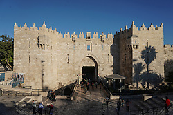 A view of the Damascus Gate in the Old City of Jerusalem. From a series of travel photos taken in Jerusalem and nearby areas. Photo date: Monday, July 30, 2018. Photo credit should read: Richard Gray/EMPICS
