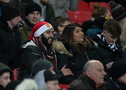 General view of a Christmassy fan - Mandatory by-line: Jack Phillips/JMP - 18/12/2019 - FOOTBALL - Old Trafford - Manchester, England - Manchester United v Colchester United - English League Cup Quarter Final