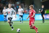 Fotball<br /> 17. August 2015<br /> OBOS Ligaen<br /> Fosshaugane Campus<br /> Sogndal - Brann<br /> Taijo Teniste (L) , Sogndal <br /> Steffen Lie Skålevik (R) , Brann<br /> Foto: Astrid M. Nordhaug
