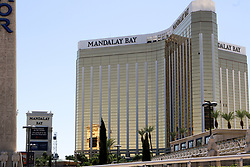 Views of The Mandalay Bay hotel and street after the shooting. 02 Oct 2017 Pictured: Mandalay Bay. Photo credit: gotpap/Bauergriffin.com / MEGA TheMegaAgency.com +1 888 505 6342