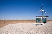 Kiosk for wind power display