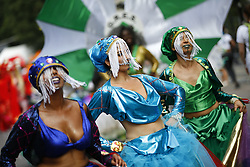 © Licensed to London News Pictures. 29/08/2016. London, UK. Carnival dancers parade on the second day of Notting Hill Carnival in west London, Monday 29 August 2016. Photo credit: Tolga Akmen/LNP