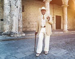 Old man with cigar in Havana.