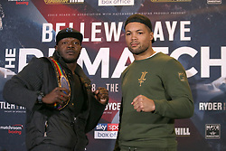 Lenroy Thomas (left) and Joe Joyce during the press conference at the Park Plaza, London.