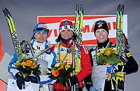 Arianna Follis (ITA), Marit Bjoergen (NOR) und Kikkan Randall (USA). (Werner Schaerer/EQ Images)