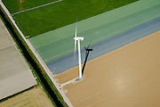 Nederland, Noord-Holland, Gemeente Wieringermeer, 05-08-2014;  windmolens in het zuidelijk deel  Wieringermeerpolder <br />