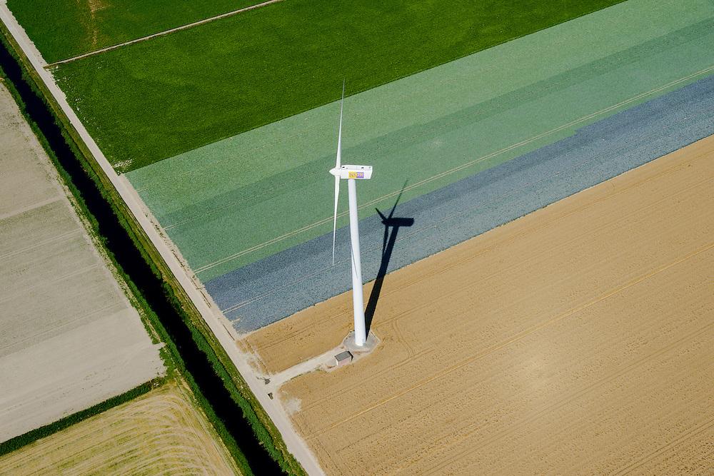 Nederland, Noord-Holland, Gemeente Wieringermeer, 05-08-2014;  windmolens in het zuidelijk deel  Wieringermeerpolder <br /> Wind turbines in Wieringermeer polder.<br /> luchtfoto (toeslag op standard tarieven);<br /> aerial photo (additional fee required);<br /> copyright foto/photo Siebe Swart