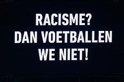 23-11-2019 NED: FC Utrecht - AZ Alkmaar, Utrecht<br /> Round 14 / Scoreboard, Racisme