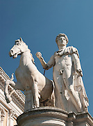 Statue of Castor on top of Capitoline Hill, Rome, Italy.
