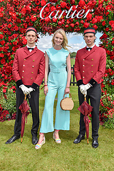 Candice Lake at the Cartier Queen's Cup Polo 2019 held at Guards Polo Club, Windsor, Berkshire. UK 16 June 2019. <br /> <br /> Photo by Dominic O'Neill/Desmond O'Neill Features Ltd.  +44(0)7092 235465  www.donfeatures.com