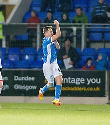 St Johnstone's Steven MacLean cele scoring their second goal. St Johnstone 2 v 4 Ross County. SPFL Ladbrokes Premiership game played 19/11/2016 at St Johnstone's home ground, McDiarmid Park.