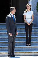 062717 Spanish Royals Attend an official lunch with President of Slovenia, Borut Pahor