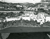 1926 The scale model of Mack Sennett's proposed home in Hollywoodland. The house was never built.