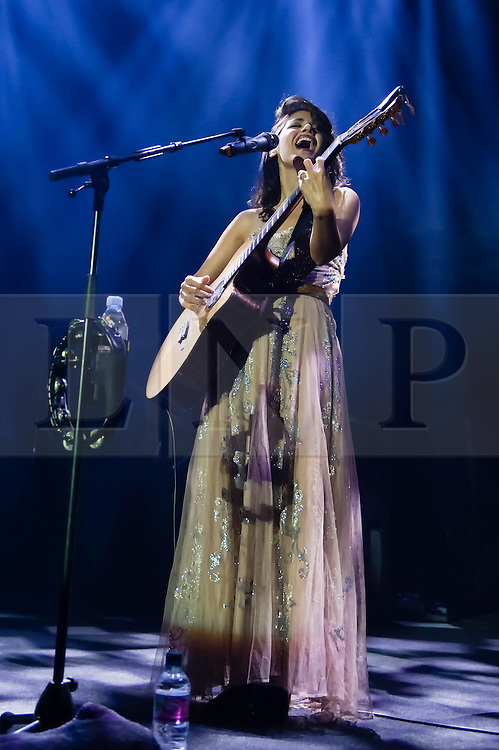 """© Licensed to London News Pictures. 02/10/2013. London, UK.  Katie Melua performing live at The Roundhouse.   Ketevan """"Katie"""" Melua  is a Georgian-born British singer, songwriter and musician . Photo credit : Richard Isaac/LNP"""
