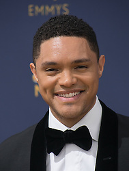 September 17, 2018 - Los Angeles, California, United States of America - Trevor Noah on the red carpet of the 2018 Emmy Awards held at the Microsoft Theater on Monday September 17, 2018 in Los Angeles, California. JAVIER ROJAS/PI (Credit Image: © Prensa Internacional via ZUMA Wire)