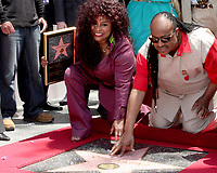 5/19/2011 Chaka Kahn is joined by Stevie Wonder during her Hollywood Walk of Fame ceremony