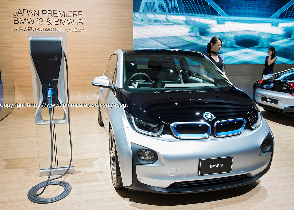 BMW i3 electric plug-in car at Tokyo Motor Show 2013 in Japan