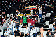 Tifosi Umana Reyer Venezia<br /> Umana Reyer Venezia - Segafredo Virtus Bologna<br /> Discovery+ Supercoppa 2021 - Final Eight - Semifinale<br /> LBA Legabasket Serie A UnipolSAI 2021/2022<br /> Bologna, 20/09/2021<br /> Foto L.Canu / Ciamillo-Castoria