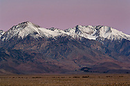 Dawn over the Eastern Sierra near Independence, California