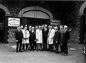 1967 - German barmen in Dublin for Irish visit at the Gresham Hotel and Powers.
