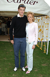 Left to right, the HON.ALEXANDER SPENCER-CHURCHILL and LADY ALEXANDRA          SPENCER-CHURCHILL at the 2004 Cartier International polo day at Guards Polo Club, Windsor Great Park, Berkshire on 25th July 2004.
