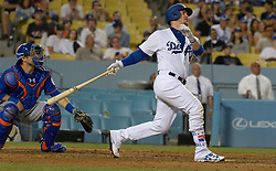 June 21, 2017 - Los Angeles, California, U.S. - Los Angeles Dodgers' Yasmani Grandal during a Major League baseball game against the New York Mets at Dodger Stadium on Wednesday, June 21, 2017 in Los Angeles. Los Angeles. (Photo by Keith Birmingham, Pasadena Star-News/SCNG) (Credit Image: © San Gabriel Valley Tribune via ZUMA Wire)