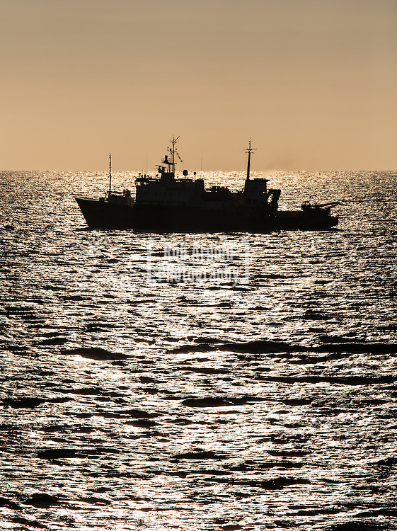 Research Vessel, Akademik Golitsyn, in the Black Sea surveying the route for the South Stream Gas Pipeline using an ROV-mounted Innovatum gradiometer.