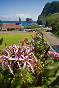 Hawaiian church, Kahakuloa, Maui, Hawaii