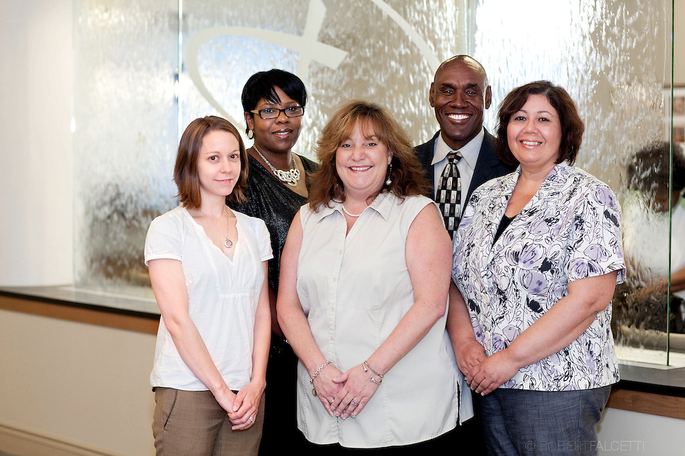 2012 Saint Mary's Hospital. Photo of Lora McMahon, Raylonda Robinson, Dolton James and Financial Counselors for Discover ad.