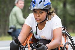 Christina Kouros starts wheelchair race