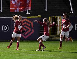 Ebony Salmon of Bristol City Women celebrates scoring her sides second goal of the game - Mandatory by-line: Ryan Hiscott/JMP - 13/01/2021 - FOOTBALL - Twerton Park - Bath, England - Bristol City Women v Aston Villa Women - FA Continental Cup quarter final