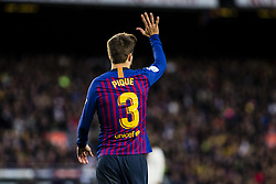 October 28, 2018 - Barcelona, Catalonia, Spain - 03 Gerard Pique from Spain of FC Barcelona pointing out the five goals of FC Barcelona with his hand  during the Spanish championship La Liga football match ''El Classico'' between FC Barcelona and Real Sociedad on October 28, 2018 at Camp Nou stadium in Barcelona, Spain. (Credit Image: © Xavier Bonilla/NurPhoto via ZUMA Press)