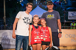 Selection U12 during winner ceremony on Beach volley National Championship of Slovenia  on July 20, 2019 in Kranj, Slovenia. Photo by Urban Meglic / Sportida