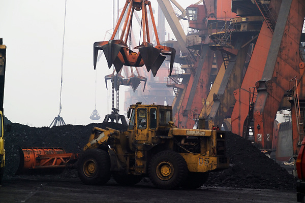 Tianjin, China,exporting, dock workers, Chinese, shipping, port, trucks, export, industrial, shipping coal