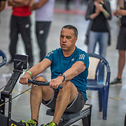 Doug Martin MALE HEAVYWEIGHT Masters E 2K Race #2  08:45am<br /> <br /> www.rowingcelebration.com Competing on Concept 2 ergometers at the 2018 NZ Indoor Rowing Championships. Avanti Drome, Cambridge,  Saturday 24 November 2018 © Copyright photo Steve McArthur / @RowingCelebration