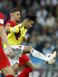 (l-r) Eric Dier of England, Radamel Falcao Garcia of Colombia during the 2018 FIFA World Cup Russia round of 16 match between Columbia and England at the Spartak stadium  on July 03, 2018 in Moscow, Russia