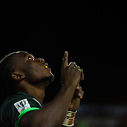 Seabelo Senate of South Africa celebrates after scoring a try during the 2016 USA Sevens leg of the HSBC Sevens World Series at Sam Boyd Stadium  Las Vegas, Nevada. Saturday March 5, 2016.<br /> <br /> Jack Megaw for USA Sevens.<br /> <br /> www.jackmegaw.com<br /> <br /> 610.764.3094<br /> jack@jackmegaw.com