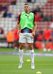 """Burnley's Jonathan Walters before the Premier League match at St Mary's, Southampton. PRESS ASSOCIATION Photo. Picture date: Sunday August 12, 2018. See PA story SOCCER Southampton. Photo credit should read: Andrew Matthews/PA Wire. RESTRICTIONS: EDITORIAL USE ONLY No use with unauthorised audio, video, data, fixture lists, club/league logos or """"live"""" services. Online in-match use limited to 120 images, no video emulation. No use in betting, games or single club/league/player publications."""
