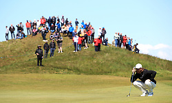 England's Tommy Fleetwood on the 5th green during day three of the Betfred British Masters at Hillside Golf Club, Southport.