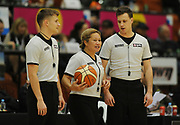 Match referees in the Sal's Pizza NBL Round 8 match, Hawkes Bay Hawks vs Auckland Rangers, Pettigrew Green Arena, Napier, Saturday, June 16, 2018. Copyright photo: Kerry Marshall / www.photosport.nz
