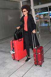 Miss France Alicia Aylies arriving at Nice Airport ahead of Cannes Film Festival in Nice, France on May 15, 2019. Photo by Julien Reynaud/APS-Medias/ABACAPRESS.COM