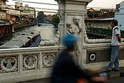 Street scene over a canal, Dusit, Bangkok