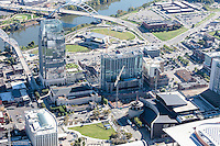 Aerial Photo Showing New Construction Next To The Country Music Hall Of Fame In Downtown Nashville.
